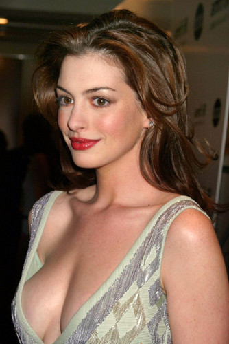Anne hathaway sexy outdoors excited