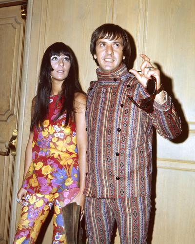 c0476d1cd31 Cher Sonny Bono Colorful 1960's hippie psychedelic fashion 8x10 Photo