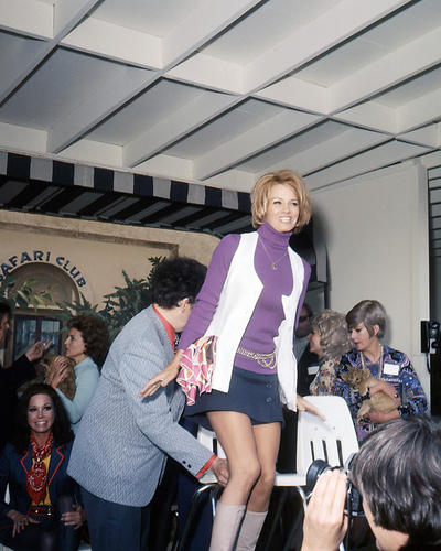 angie dickinson 8x10 photo short skirt boots candid with